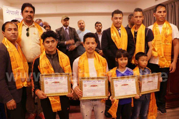 युएइमा नेपाली खेलाडीहरु सम्मानित