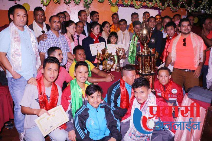 युएईमा सफल नेपाली खेलाडीहरु सम्मानित