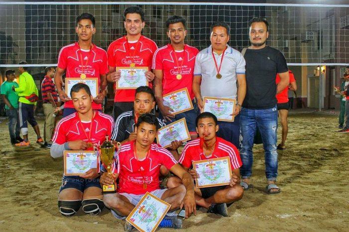 नेपाली समुदाय युएईद्वारा आयोजित चौथो भलिबल प्रतियोगिताको पहिलो उपाधी कालीगण्डकीले चुम्यो